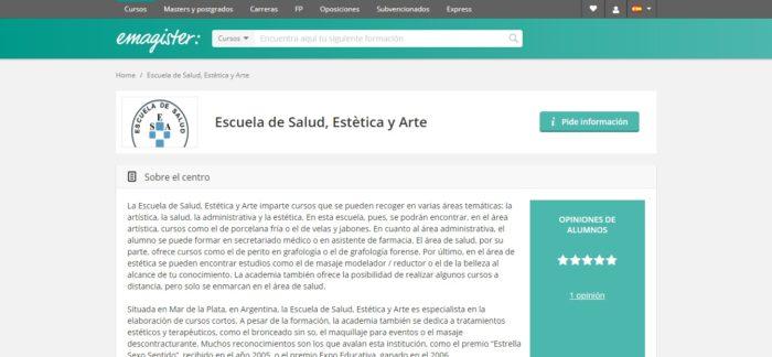 escuela de salud, estética y arte