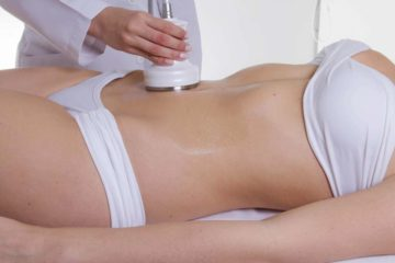terapia de ultrasonido después de la liposucción