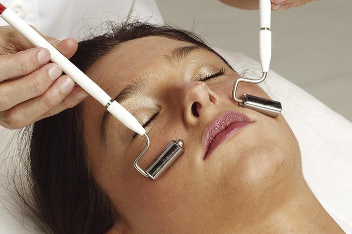 corriente galvánica facial